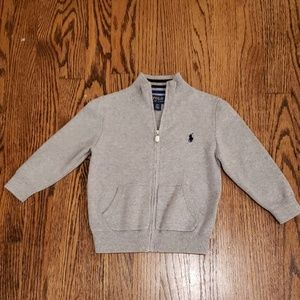 Polo zippered cardigan NWOT